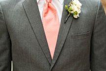 Cravates Corail / Idées de looks avec une cravate corail