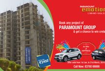 Upcoming New Project / 2/3/4 BHK residential flats at Paramount Emotions are the first class accommodations, greatly in demand among home buyers. All residential flats are fully furnished with latest features. http://goo.gl/Jq8q9P