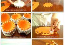 лепка украшений для торта