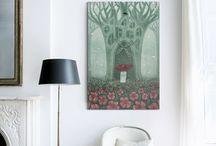 Картины Гали Зинько в интерьере