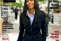 E The Magazine For Today's Female Executives Covers / All the covers for E The Magazine for Today's Female Executive..