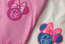 Disney Prep / Specialty monograms to wear in the parks. Home of the Minnie Monogram!