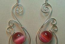σιρμάτινα σκουλαρίκια