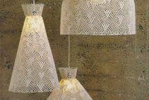 luminárias  d crochê