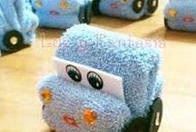 Cosas de toallitas de mano