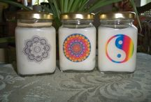 Denise Nichols, candles, scented oils, jewelry / Denise Nichols hand crafts gemstone tree-of-life necklaces, all-natural perfume oils, and soy candles, some of which are all natural and made with essential oils.