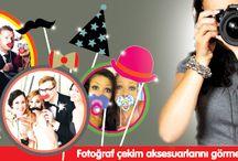 Fotoğraf Çektirme Çerçeveleri ve Aksesuarları / Bu ürünlerle partilerinizi hem unutulmaz hem de daha eğlenceli yapın :)
