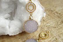 Druzy jewelries
