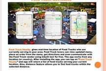 "Food Truck Customers / Food Truck Nearby gives real-time location of Food Trucks who are currently serving in your area.  Food Truck lovers can view updated menu, place an order from the menu, get directions and even communicate with the Food Truck vendor using inbuilt text for free. The app works from any location (or country). After installing the app, you can tap on ""Food Truck Nearby"" and app will return a list of food trucks serving your current location."