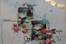 Scrapbook LO's made by me