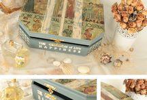 Kutular / Boxes / Dekupaj Ahşap Kutular  / Decoupage Wooden Boxes