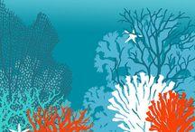 Inspiration corail peinture