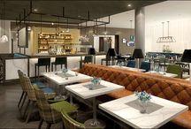 Crowne Plaza Aberdeen Airport / Hotel interior design I Restaurant and Bar