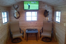 Cedar Man Caves / Cedarshed prefab backyard sheds are great man caves!  Everything you need is included in the kit and it doesn't take a rocket scientist to put it together.  Customize to suit your interests and claim your personal space.