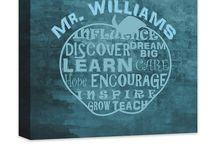 Teacher Gift Ideas / Personalized and Inspirational Wall Art that make great Teacher Gifts!  Honor those who honor our kids every day!