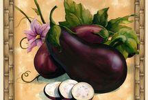 gyümölcs termés levél színes / fruit vegetable letter Vintage transfer transzfer colorful