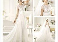 Wedding dress beautiful in white