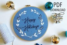 Christmas Countdown 2016 / Countdown to Christmas, featuring a new shop every day on Feeling Stitchy: www.feelingstitchy.com
