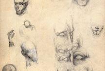 Dibujos 1 - 1987 / Bocetos a lápiz sin modelo
