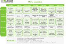 Menús semanales saludables