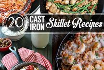 Food - Cast Iron / cast iron camp cooking dinner and dessert recipes