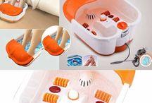 Foot massage and pedi cure device