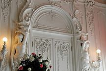 Plasterwork, mouldings and carving