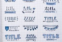 Lettering and Doodles