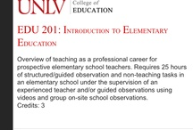 General Education Undergraduate Courses / Interested in taking a class? Below are the general education undergraduate courses offered by the University of Nevada, Las Vegas (UNLV) College of Education. / by UNLV College of Education