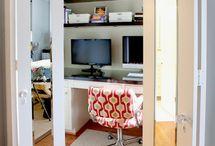 Office in closet