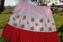 Shabby chic children girl skirt