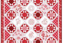 Rot/weiss (beige) Quilts