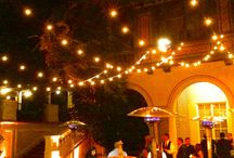 Villa Montalvo - Saratoga / Enhanced Lighting loves the beautiful historic mansion Villa Montalvo in Saratoga it's the perfect setting for your wedding or social event.