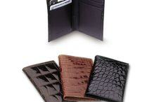 Alligator Wallets / Alligator wallets, credit card cases, sliim secretaries, hipsters and billfolds