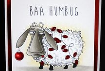 Baa Humbug / This is the gorgeous new 'Baa-Humbug' set designed by Sharon Bennett for Hobby Art. Great Fun and this sheep is not just for Christmas with a mix of accessories for all year round. Clear set contains 16 stamps including the 2 sentiments. Overall size of set - 100mm x 260mm approx. All our clear stamps are made with photopolymer resin. As seen on Create & Craft. / by Hobby Art Stamps
