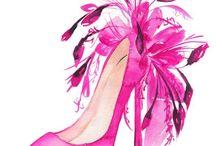 Ilustracion de moda y calzado