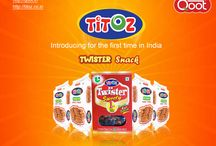TWISTER SNACK & TWISTER SWEETY / Introducing for the first time in India TWISTER SNACK & TWISTER SWEETY . Click here for more details  http://qoot.in/ http://titoz.co.in