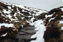 Peak District Scrambles / Scrambling walks in the Peak District, including Kinder Scout, Mam Tor, and Edale.