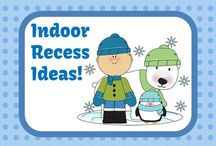 Indoor Recess / Games and ideas for keeping kids entertained during indoor recess or in speech therapy