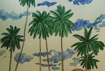Jade Gedeon Island Escape Rainforest Escape Carnival Escape / Colored in pages by me.