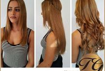 Hair Extensions / Human Remy hair extensions available in Clip In, Pony Tail, Halo,  & Weft.