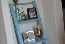 shelves and hooks and knobs / by Linda  Mae B