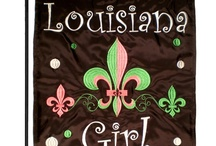 Louisiana Girl House flag and garden flag