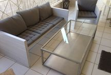 Home made diy outdoor sofa inspired from    http://pin.it/HnOVp3U