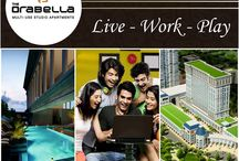 The Orabella / The Orabella is a part of the mixed-used development project, 52nd Avenue in Central Noida. This classical architecture building is designed by the Architect Hafeez Contractor that elevates life to a luxurious experience. The magnificent tower comprises of 22 storeys with a club on the top.