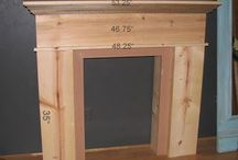 Fire place mantle