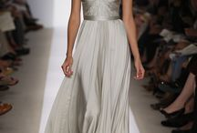 """Reem Acra """"Olivia"""" Twist Front Gown with Jeweled Sleeves"""