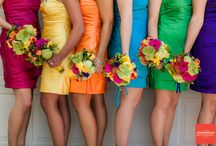 Bridesmaid ideas / gathering ideas for bridemaid dresses - bright, playful, vintage