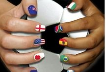 Carnival and Fifa inspired nails, make-up and spray tanning! / Inspiration for Professional Beauty's #PBcarnivalfever competition - enter here http://www.professionalbeauty.co.uk/page.cfm/Link=411/nocache=03062014