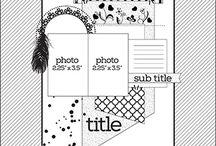 Scrapbooking Sketches / Scrapbooking layouts